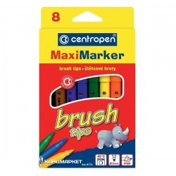Фломастеры Centropen Brush - 8 штук